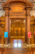 Rose Main Reading Room Prints - New York Public Library Main Reading Room Entrance I Print by Clarence Holmes