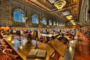 Rose Main Reading Room Prints - New York Public Library Main Reading Room III Print by Clarence Holmes