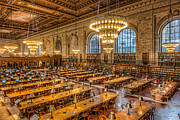 United States National Register Of Historic Places Photos - New York Public Library Main Reading Room IX by Clarence Holmes