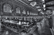 Rose Main Reading Room Prints - New York Public Library Main Reading Room V Print by Clarence Holmes