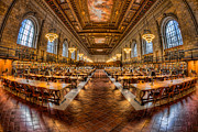 United States National Register Of Historic Places Photos - New York Public Library Main Reading Room VII by Clarence Holmes