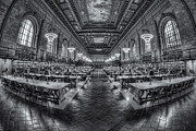 Stephen A. Schwarzman Building Framed Prints - New York Public Library Main Reading Room VIII Framed Print by Clarence Holmes