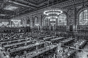 Rose Main Reading Room Prints - New York Public Library Main Reading Room X Print by Clarence Holmes