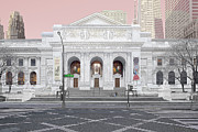 Crosswalk Photos - New York Public Library by Michael Davis