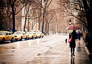 Rainy Day Photo Prints - New York Rain - Greenwich Village Print by Vivienne Gucwa