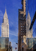 Chrysler Building Digital Art Metal Prints - New York Reflections 20 Metal Print by Angela A Stanton