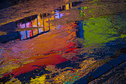 Puddle Prints - New York Reflections Print by Garry Gay
