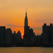 New York Skyline At Sunset Print by Avis  Noelle