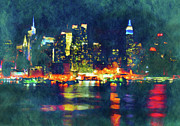 Manhattan Mixed Media - New York State Of Mind Abstract Realism by Zeana Romanovna