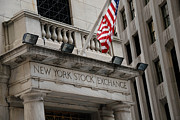 American Flag Acrylic Prints - New York Stock Exchange building Acrylic Print by Amy Cicconi