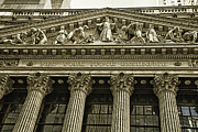 New York Framed Prints - New York Stock Exchange Framed Print by Garry Gay