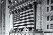American Flag Manhattan Framed Prints - New York Stock Exchange IV Framed Print by Clarence Holmes