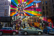 Murals Prints - New York Street Scene Print by Garry Gay