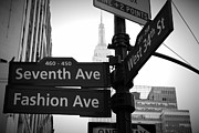 Street Sign Prints - New York Street Signs Print by David Gardener