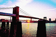 Brooklyn Bridge Digital Art - New York Sunrise by Bill Cannon