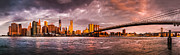 New York City Skyline Originals - New York Sunrise by Mihai Andritoiu