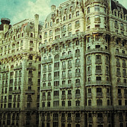 Cities Pyrography Metal Prints - New York Upper West Side Apartment Building Metal Print by Amy Cicconi
