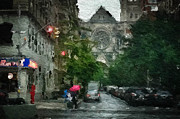 Manhattan Digital Art - New York Upper West Side Scene by Amy Cicconi