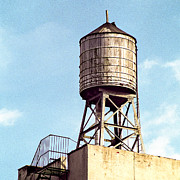Rooftop Photos - New York water tower 1 - New York Scenes  by Gary Heller