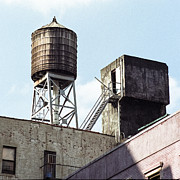 New York Photos - New York water tower 5 - New York City Experience by Gary Heller
