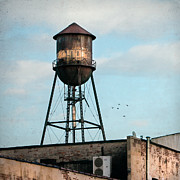 Industrial Art Framed Prints - New York water tower 7 Framed Print by Gary Heller