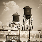 Nostalgic Prints Prints - New York water tower 8 - Williamsburg Brooklyn Print by Gary Heller