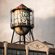 New York City Rooftop Photos - New York. water towers 6 by Gary Heller