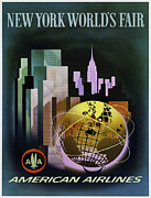 Aircraft Poster Posters - New York Worlds Fair Poster by Mark Rogan