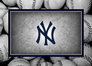 Baseballs Framed Prints - New York Yankees Framed Print by Joe Hamilton