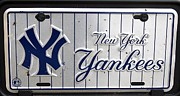 Sports Pyrography Acrylic Prints - New York Yankees  Acrylic Print by John Vito Figorito
