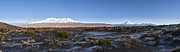 Volcanoes Prints - New Zealand Desert Road Winter Panorama Print by Colin and Linda McKie