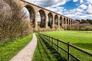 Landscape Tapestries Textiles Prints - Newbridge Viaduct Print by Adrian Evans