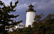 Pictures Of Lighthouses Prints - Newburyport Harbor Lighthouse Print by Skip Willits