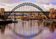 Quayside Prints Posters - Newcastle Bridges Poster by Trevor Kersley