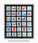 Whale Digital Art - Newfoundland Heritage Quilt by Barbara Griffin