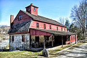 Grist Mill Art - Newlin Grist Mill by Bill Cannon