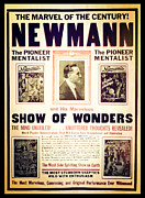 Magicians Framed Prints - Newmann and His Show of Wonders  Framed Print by The  Vault - Jennifer Rondinelli Reilly