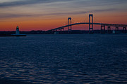 Red Photographs Art - Newport at sunset by Torkomian Photography