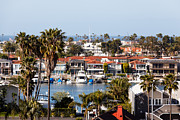 Homes Posters - Newport Beach California Waterfront Luxury Homes  Poster by Paul Velgos