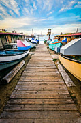 Balboa Prints - Newport Beach Dory Fishing Fleet Market Print by Paul Velgos