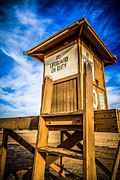 Shack Prints - Newport Beach Lifeguard Tower 10 Photo Print by Paul Velgos