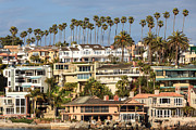 Corona Posters - Newport Beach Luxury Homes in Corona del Mar California Poster by Paul Velgos