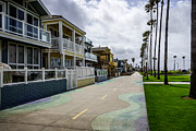 Oceanfront Metal Prints - Newport Beach Oceanfront Homes in Orange County California Metal Print by Paul Velgos