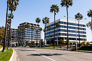 Businesses Photo Framed Prints - Newport Beach Office Buildings Orange County California Framed Print by Paul Velgos