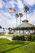 Gazebo Framed Prints - Newport Beach Peninsula Park Gazebo in Orange County Framed Print by Paul Velgos