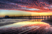 Los Angeles County Photos - Newport Beach Pier Sunset by Heidi Smith