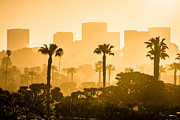Office Buildings Prints - Newport Beach Skyline Morning Sunrise Picture Print by Paul Velgos