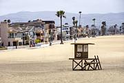 Newport Beach Waterfront Luxury Homes Print by Paul Velgos