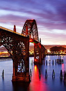 Bay Bridge Photo Metal Prints - Newport Dawn Metal Print by Darren  White