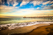 Ocean Photography Metal Prints - Newport Pier Photo in Newport Beach California Metal Print by Paul Velgos